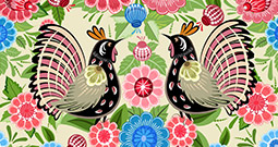 Wall Art Prints - Folk Art Patterns