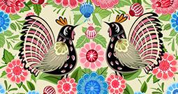 Wall Art Prints - Folk Art Patterns