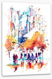 Autumn in the city Stretched Canvas 100145225