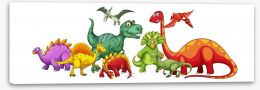 Dinosaurs Stretched Canvas 100677040