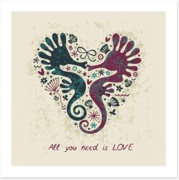 Seahorse love Art Print 101570552