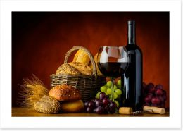 Bread and wine Art Print 101890700