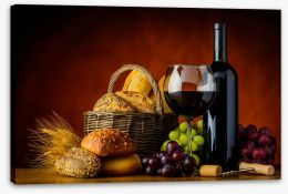 Bread and wine Stretched Canvas 101890700