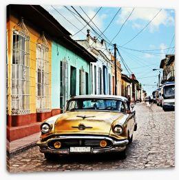 Vintage Cuba Stretched Canvas 102151065