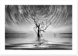 Alone with the star trail