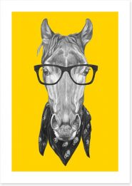 Hipster horse