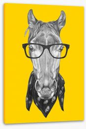 Hipster horse Stretched Canvas 102868208