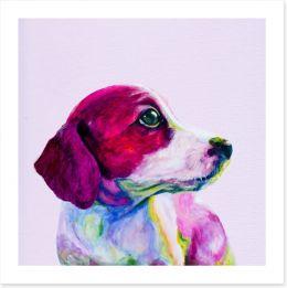 Wistful beagle Art Print 102986487