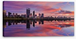 Pink Perth sunrise Stretched Canvas 103951785