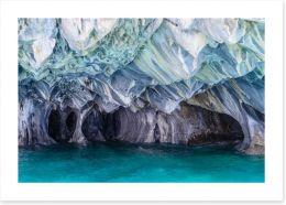 Marble caves Art Print 104379535