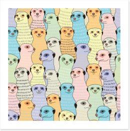 Meerkat meeting Art Print 107114385