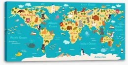 Animals of the world Stretched Canvas 107285907