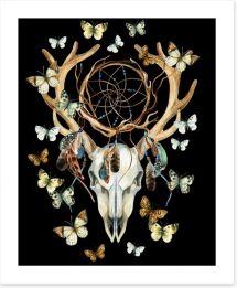 Tribal dreamcatcher Art Print 107536929