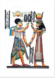 Hieroglyphic handshake