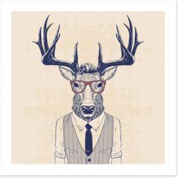 Bigwig deer Art Print 110031788