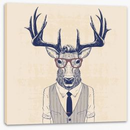 Bigwig deer Stretched Canvas 110031788