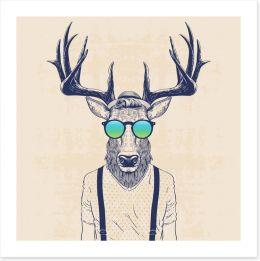 Hipster deer Art Print 110031812