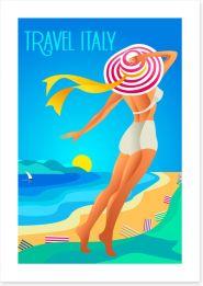 Travel to Liguria Art Print 111160293