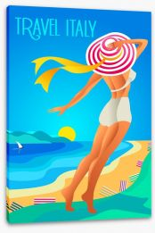 Travel to Liguria Stretched Canvas 111160293