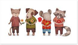 Animal Friends Art Print 111631433