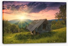 Mountains Stretched Canvas 112368686