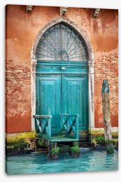 Doorway to Venice Stretched Canvas 112562975