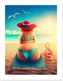 Hanging out on the beach Art Print 112821922