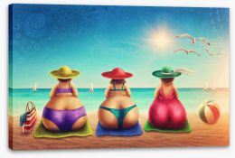 Beach House Stretched Canvas 113872335