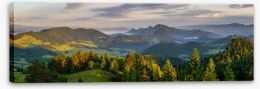 Mountains Stretched Canvas 114383422