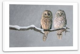 Together in the snow Stretched Canvas 114512559