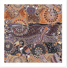 Native fauna Art Print 115022161
