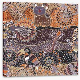 Native fauna Stretched Canvas 115022161