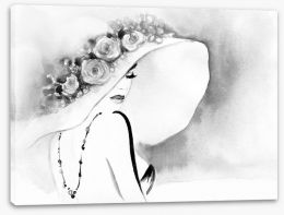Black and White Stretched Canvas 115083978