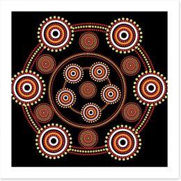 Aboriginal Art Art Print 118523083
