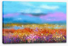 Wildflower valley Stretched Canvas 118862303