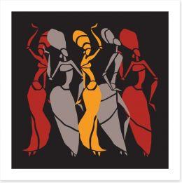 African Art Art Print 118879952