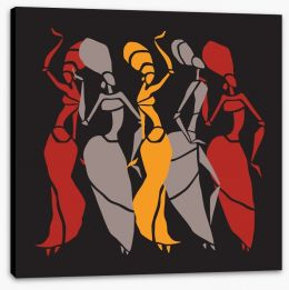 African Art Stretched Canvas 118879952