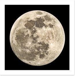 Full moon Art Print 120879554