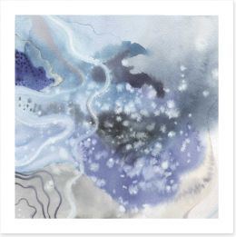Above a sparkling sky Art Print 124829504