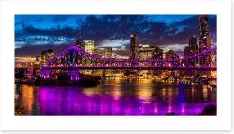 Light Up Brisbane panorama Art Print 125200677
