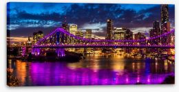 Light Up Brisbane panorama Stretched Canvas 125200677