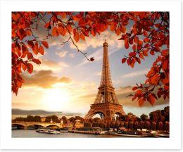 Eiffel Tower in Autumn Art Print 126000678