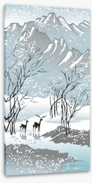 Four seasons - Winter Stretched Canvas 12747796