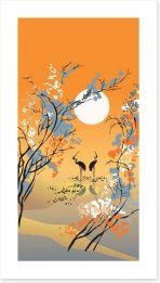 Four seasons - Autumn Art Print 12747933