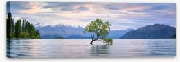 Lake Wanaka panoramic Stretched Canvas 127994307
