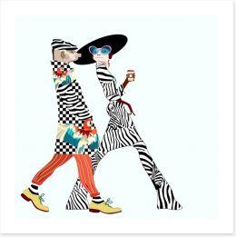 Suricate stroll Art Print 128076405