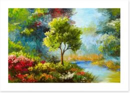 Flowers by the river Art Print 131023522