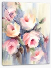Soft rose bouquet Stretched Canvas 132041542