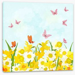 Fun Gardens Stretched Canvas 132558197