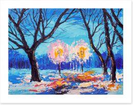 Winter Art Print 133616430